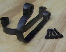 Hand forged Gun rack, shotgun, rifle hangers, felt lined Wall mount. Great for your cabin or hunting lodge.