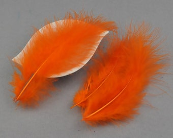 Turkey Feathers--Wholesale Plumage, 4-6'' Orange Craft Turkey Feather-Loose Feathers Bulk Supplies