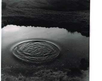 """A hand printed original photograph of """" CARL WARK """" peak district, black and white"""