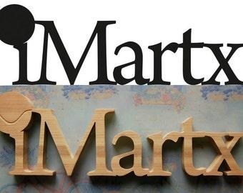 Medium Size Logo Sign / Custom Wooden Logo / Your Site Name Logo / Business Identity / FREE DESIGN DEVELOPMENT