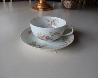 FRANCE HAVILAND LIMOGES Teacup and Saucer
