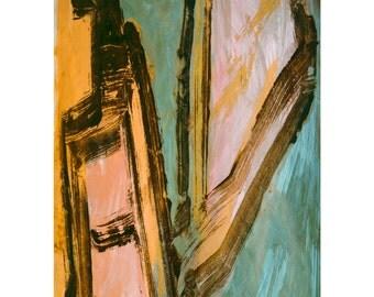 V for Love Series #4.  Giclee Fine Art Print, Abstract Art, Wall Art, Home Office Decor