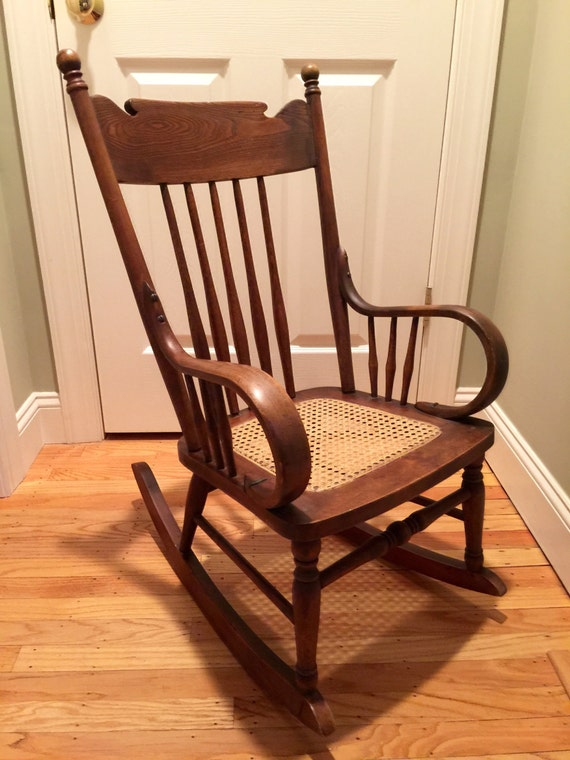items similar to antique child 39 s wooden rocking chair kids rocker chair rare antique children. Black Bedroom Furniture Sets. Home Design Ideas