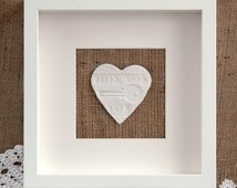 Personalised First Home Framed Gift, House Warming, New House, Family Home From The White Heart Gift Company.