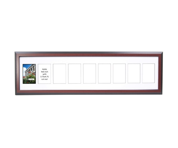 2 Thru 10 Opening Mahogany Picture Frame W Glass Face