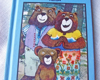 GOLDILOCKS and The 3 Bears Fairy Tale Classic 1952 Mid Century Collectible Childrens Book