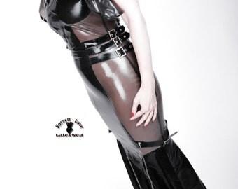 Half transparent LaTeX dress