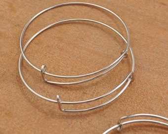 Adjustable Bangle Bracelet,Silver Adjustable bangle bracelet blanks expandable bangle bracelets charm bracelet popular style.