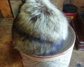 Vintage Saks Fifth Ave - Fox Fur Hat Topper