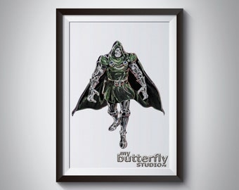 Marvel Comics Doctor Doom- Instant Digital Print Download - 8x10 Print
