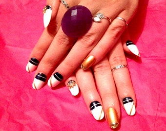 Nautical Nails - Full Set