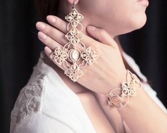 """Set of jewelry tatting """"Royal"""""""