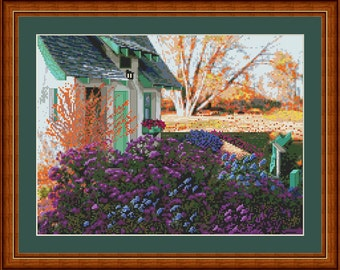 The Cottage at McCrory Gardens - Original Cross Stitch Design Pattern