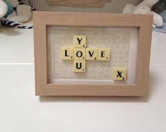Love you Scrabble Art