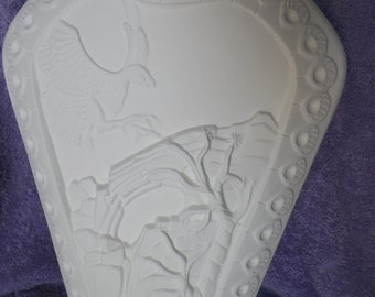 Ceramic Southwest Vase - Bisque (Ready to Paint)