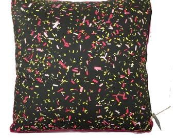Confetti and raspberry floor cushion cover - Free Shipping Australia wide