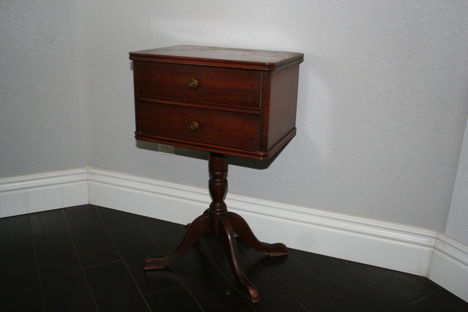 Duncan Phyfe Style Pedestal End Tables