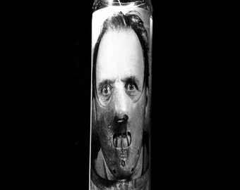 "Silence Of The Lambs Hannibal Lecter 2x8"" Horror Candle from Toxxic Candles"