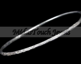 Hammered Bangle by MidasTouch Jewels