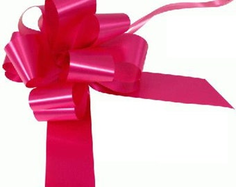 1 Bow Wedding Car Kit in Cerise - 1 Bow and Ribbon