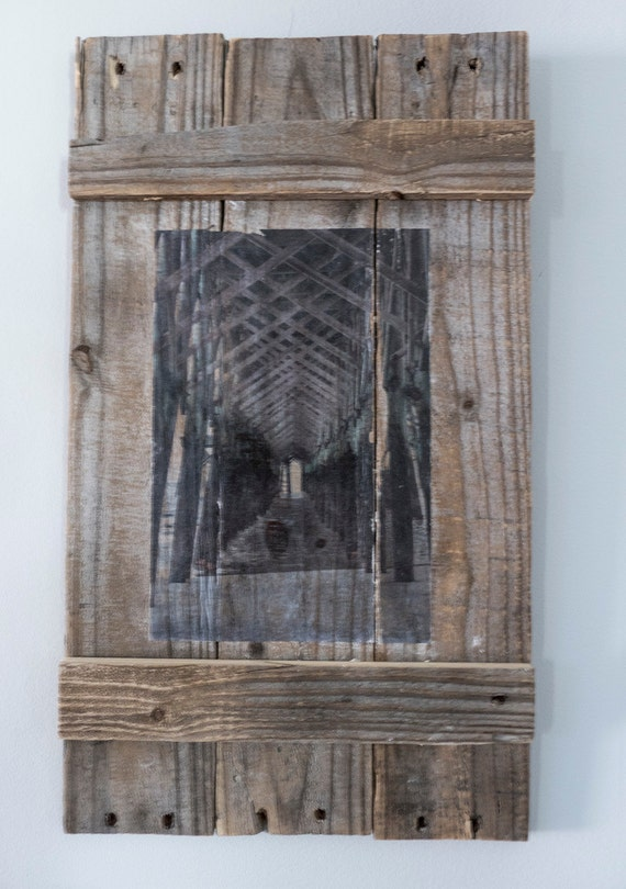 Rustic Distressed Pallet Wood Wall Photography Wall By