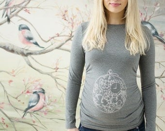 Top Clock of happiness / maternity top / maternity shirt / maternity blouse / nursing blouse