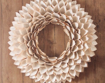 Vintage Paper Cone Wreath ~ Open Center