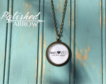 So Loved Scripture Pendant Necklace