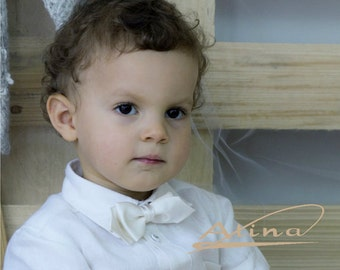 Silk Baby bow tie, Boys bow tie, Wedding bow ties, Baptism bow tie