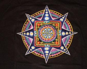 MEDIUM T SHIRT Mandala psy hippy top