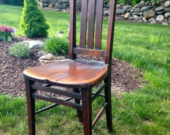 Antique Solid Wood Dining Room Chair