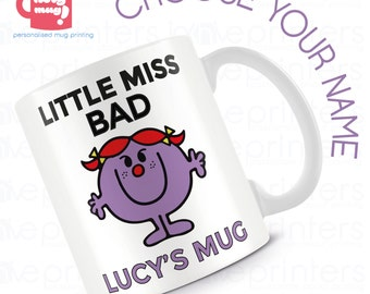 Little Miss Collection - Personalised Mug - Choose from a collection of little miss mugs personalised for you!
