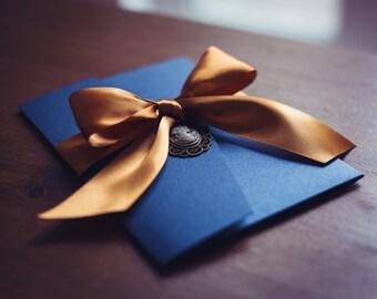 Beauty And The Beast Invitation | Princess Inspired Wedding Invitation |  True Love And Romance Wedding