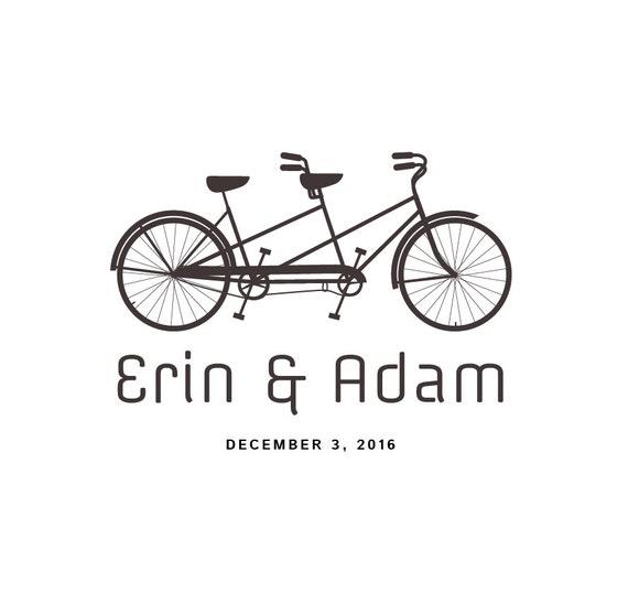 fahrrad hochzeit logo anpassbare moderne tandem von. Black Bedroom Furniture Sets. Home Design Ideas