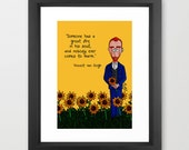 Vincent van Gogh Print, Typographical Print, Inspirational Quote, Art Print