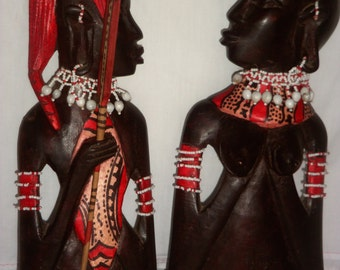 Masai couple bust
