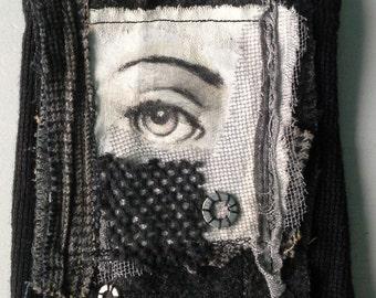Textile table: eye of Fornasetti