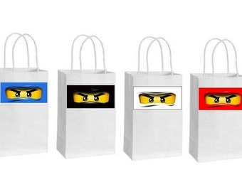 8 Printed ninjago eyes for balloons goodybags or gift boxes, Stickers