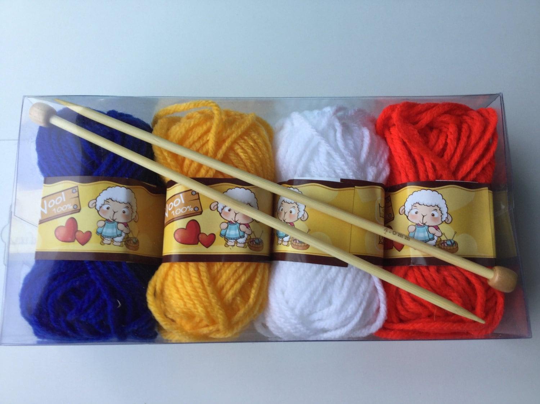Beginner Knitting Kits Canada : Knitting starter kit for children and adults wool set