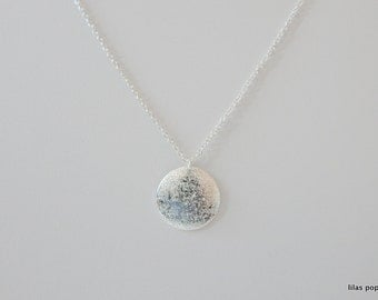 circle karma silver  plated necklace  -best friend - sister necklace