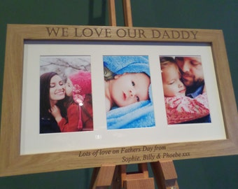 Fathers Day Personalised Frame Gift. engraved frame