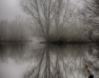 "Singleton Lake in the Mist - 16"" x 12"" Photographic Print"