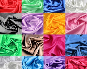 Silky satin fabric 59inch width sold per yard 100% polyester for wedding party craft patchwork