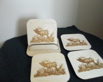Elk Coaster set