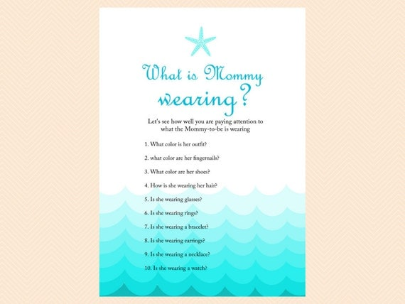 what is mommy to be wearing game memory nautical baby shower games
