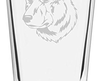 Dutch Shepherd Dog Themed Etched All Purpose 16oz Libbey Pint Glass