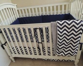 Dwell Navy Baby Bedding Set