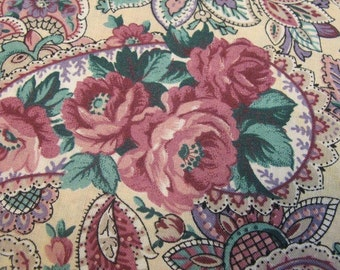 Vintage Remembrance paisley fabric sold by the yard