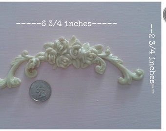 Beautiful small rose swag furniture applique! #12