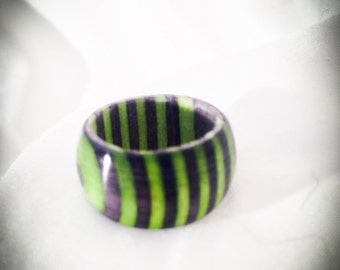 Green Hornet Wooden Ring